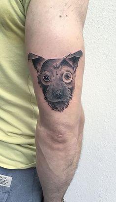 Animal Tattoo Designs – Geometric schnauzer tattoo by Eva… Arm Tattoos, Sexy Tattoos, Cool Tattoos, Awesome Tattoos, Worlds Best Tattoos, Popular Tattoos, World Travel Tattoos, Cute Animal Tattoos, Tatuagem New School