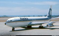 Alaska Airlines, Boeing 707-321, Seattle, early 70's