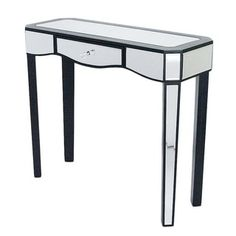 Shop for Elizabeth Wood 1-drawer Console Table with Mirror. Get free shipping at Overstock.com - Your Online Furniture Outlet Store! Get 5% in rewards with Club O! - 19863125