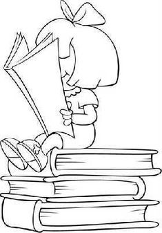 thumb-cat-lectura-dia-libro-16-04554f15d9f1801c77c8179fd42f6935 Printable Coloring Pages, Colouring Pages, Adult Coloring Pages, Coloring Books, Coloring Sheets For Kids, School Clipart, Digi Stamps, Embroidery Patterns, Paper Embroidery