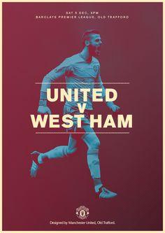 Match poster. Manchester United v West Ham United, 5 December 2015. Designed by @manutd