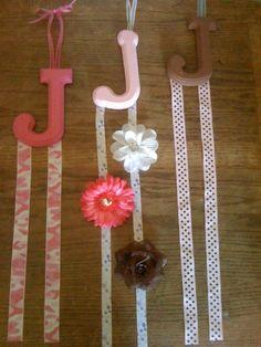 "Hair bow holders ""J"""