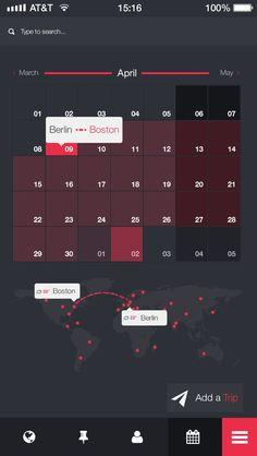 Your-trip-app#UI Design| http://uidesigninspirations446.blogspot.com