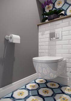 Small Bathroom Redo, Small White Bathrooms, Small Toilet Room, New Toilet, Wc Design, Toilet Design, Home Room Design, Bathroom Interior Design, House Tiles
