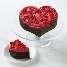 Heart Rose Chocolate Cake