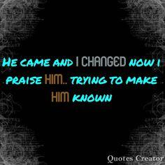 Him known