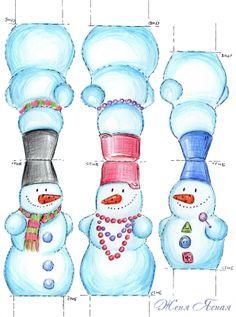 sneeuwpoppen, snowmen, free printable
