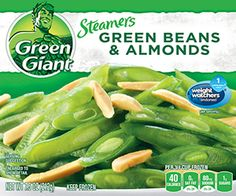 Green Giant® Steamers Green Beans & Almonds 7.5 oz. Box --a great accompaniment to the Healthy Choice Sesame Chicken or Sweet & Sour Chicken!