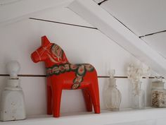 Dala horse in the eaves