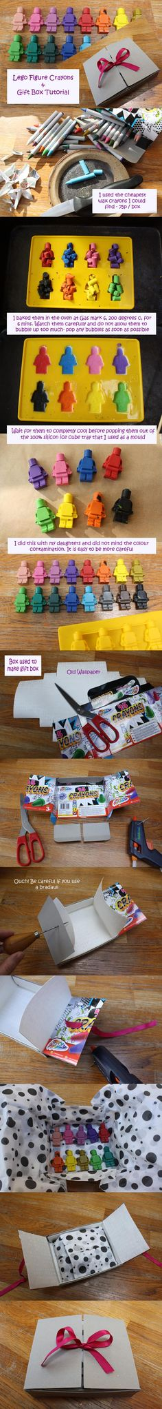 Make It: Lego Man Crayons - Tutorial #kids