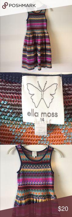 Ella Moss colorful girls dress. Size 14 Beautiful Ella Moss girls dress. Size 14 EUC Ella Moss Dresses Casual