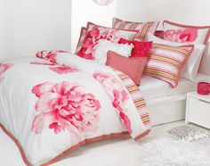 Quilt Covers Sets Logan & Mason Fleur Pink - The House Queen Home Decor and Gifts Australia Pink Bed Linen, Linen Bedding, Bedding Sets, Double Bed Size, Relaxation Room, Relaxing Room, Pink Quilts, Bed Linen Online, Teen Girl Rooms