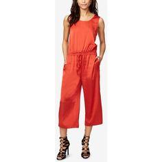 Rachel Rachel Roy Open-Back Jumpsuit ($139) ❤ liked on Polyvore featuring jumpsuits, lava, open back jumpsuit, red jumpsuit, rachel rachel roy, backless jumpsuits and red backless jumpsuit
