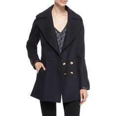 Rag & Bone Token Double-Breasted Peacoat (13 950 ZAR) ❤ liked on Polyvore featuring outerwear, coats, salute, double breasted pea coat, rag & bone, blue peacoat, double-breasted coat en pea coat