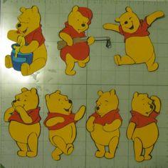 Reddy's Ramblings: Pooh svg files... Piglet, Eeyore & Tigger too