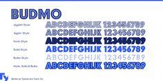 Budmo Font Poster