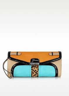 Guess Color Block Eco Leather Clutch