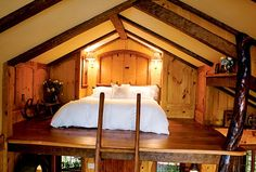 Treehouse loft bedroom