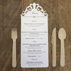 Elegant french provincial wedding menu