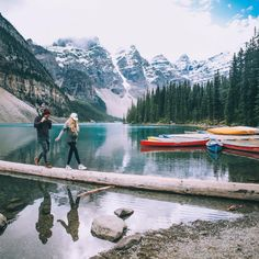 Moraine Lake - Barefoot Blonde by Amber Fillerup Clark