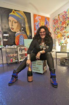 Ashley Longshore interview - John Dalton - gently does it . Artists And Models, Great Artists, John Dalton, Business Inspiration, Portrait Art, Portraits, Painting Inspiration, Art Inspo, Art World