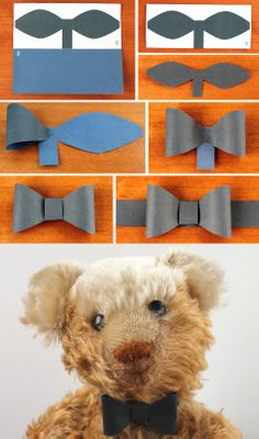 DIY paper bow tie template! happythought.co.uk