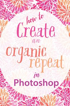 Video tutorial on how to make organic repeats in Photoshop! This is different than the Offset method (yay!!)