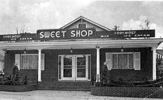 The Sweet Shop on Jefferson Street - Tallahassee, Florida 1970s