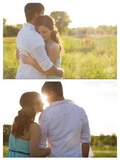 Sunset Field Engagements Photo by Kati Photography https://www.facebook.com/Kati.Photography