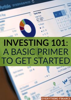 Investing A Basic Primer to Get Started - Trading Stocks - Ideas of Trading Stocks - Does investing scare you because you have no idea where to start? You'll learn the basic terminology and how to start investing in this investing 101 post. Investing In Stocks, Investing Money, Stock Investing, Financial Literacy, Financial Tips, Financial Planning, How To Make Money, How To Get, How To Plan