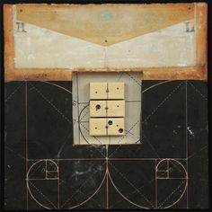 Distance and Observation #31 by Graceann Warn encaustic assemblage
