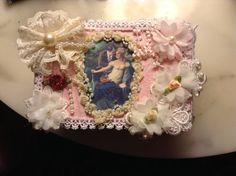 Cigar box trinket box reserved for Linda by cindysvictorian