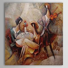 Hand Painted Oil Painting Abstract People 1303-AB0426 – USD $ 79.99
