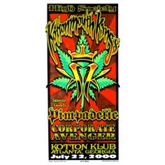 Kottonmouth Kings Poster w/ Pimpadelic, Corporate Avenger 2000 Concert