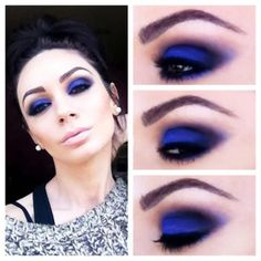 16 Trendy eye makeup blue eys step by step make up Beautiful Eye Makeup, Natural Eye Makeup, Blue Eye Makeup, Makeup For Brown Eyes, Skin Makeup, Blue Eyeshadow, Makeup Tips, Beauty Makeup, Makeup Ideas