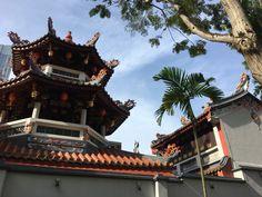 El templo deThian Hock Keng desde el exterior