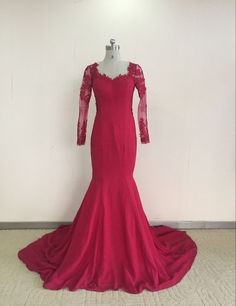 Find More Evening Dresses Information about Robe Dubai Red Lace Evening Dress long Sleeves Mermaid Evening Dress 2016 Elegant Applique Long Sleeve Burgundy Prom Dresses,High Quality dress up wedding dresses,China dresses dress up games Suppliers, Cheap dress a dress from Sunflower Bridal on Aliexpress.com