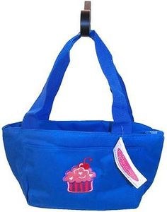Pink Puff Cupcake Insulated Lunch Cooler Bag Sweet Bakery Monogram Get Blue Now!