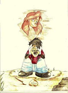 I Miss You   by marvelzombie101 @ DeviantART.com // max and roxanne; goof troop; a goofy movie
