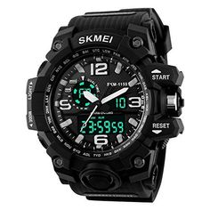 Tradekmk Men's Sports Watch LED Digital Military Watches Waterproof Casual Stopwatch Alarm Army Watch #Tradekmk #Men's #Sports #Watch #Digital #Military #Watches #Waterproof #Casual #Stopwatch #Alarm #Army