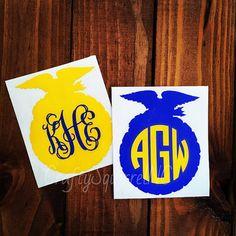 FFA Emblem Monogram by SouthernSquirrelCo on Etsy