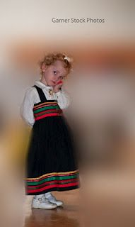 Young Girl in Traditional Norwegian Dress