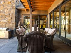 Outdoor Kitchen Pictures From HGTV Dream Home 2014 – blackhouse. Outdoor Rooms, Outdoor Dining, Dining Area, Dining Rooms, Patio Dining, Indoor Outdoor, Fresco, Hgtv Dream Homes, Patio Bar