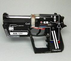 Nifty Hack turns Airsoft Guns into Coilguns - The Truth About Guns Best Picture For DIY Hacks garden For Your Taste You are looking for something, and it is going to tell you exactly what you are look Diy Electronics, Electronics Projects, Maquillage Phosphorescent, E Motor, Tesla Coil, Homemade Weapons, Cool Tech, Diy Tech, Airsoft Guns