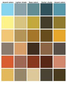 Simply Rustic Color scheme