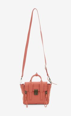 coral crossbody purse