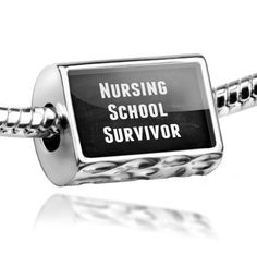 Amazon.com: Neonblond Beads Nursing School Survivor - Fits Pandora Charm Bracelet: NEONBLOND Jewelry & Accessories: Jewelry