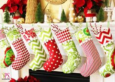 Christmas stocking tutorial. This is a great step-by-step tutorial with lots of ideas for pairing fabrics.