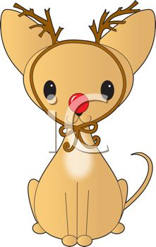 iCLIPART - Royalty Free Clipart Image of a Chihuahua Planting a ...