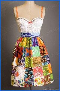 Vintage patchwork apron